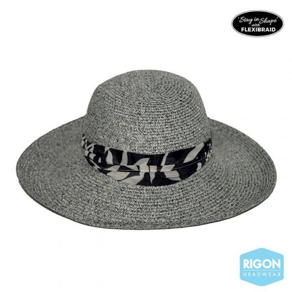 Capeline Monroe Monochrome Fibres Naturelles Grise- Rigon Headwear