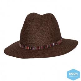 Chapeau Fedora Arizona Fibres Naturelles Chocolat- Rigon Headwear
