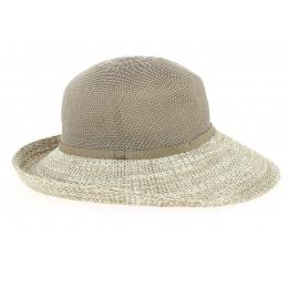 Capeline/ Chapeau Cloche Frida Polyester Mocha & Blanc- Rigon headwear