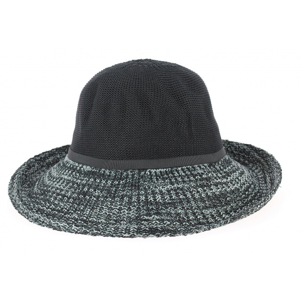 Capeline/ Chapeau Cloche Frida Polyester Gris & Noir- Rigon headwear