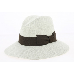 Chapeau Traveller Manille Larges Bords Lin Naturel - Fléchet