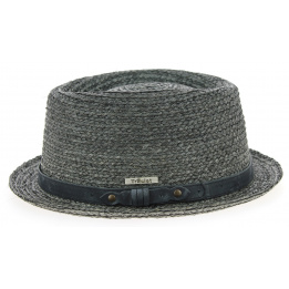 PorkPie Hat Indian Wells Straw Beige - Traclet