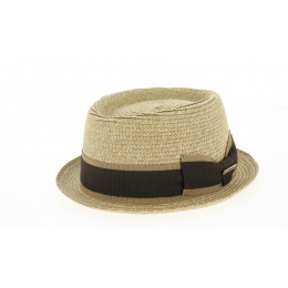 Chapeau PorkPie Indian Wells Polyester Beige - Traclet