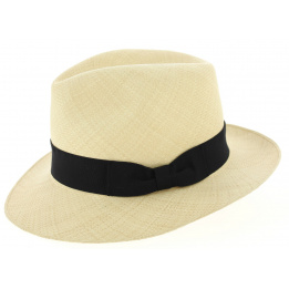 Chapeau montecristi extra fino Fédora Maruja Panama Naturel - Traclet