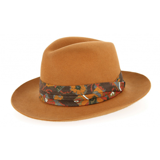 Chapeau feutre poil orange