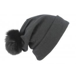 Bonnet Long Pompon Renard & Jersey- Traclet