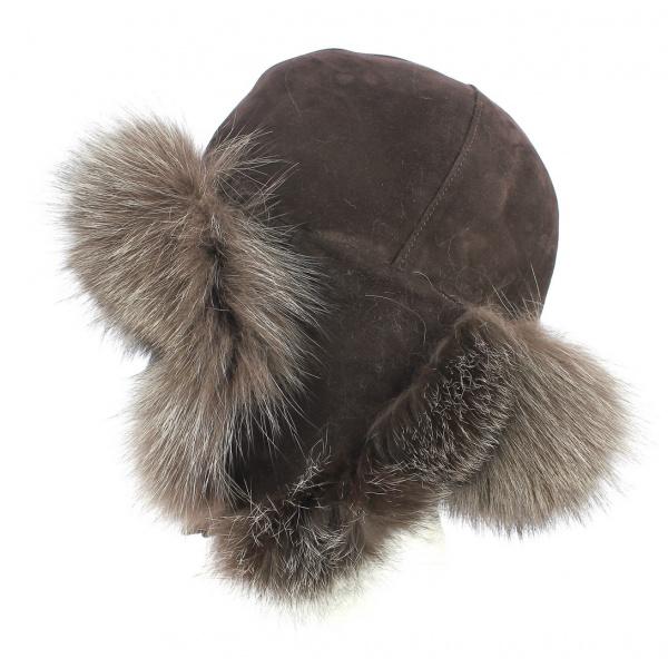 Fur felt blue