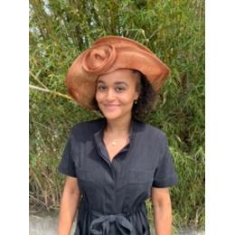 Chapeau de Cérémonie Edith Marron- Traclet