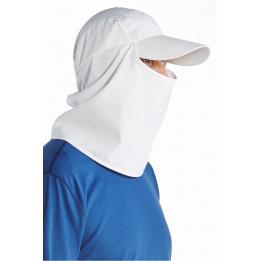 Casquette Ultra Sport cache-nuque & cache-visage Blanc- Coolibar