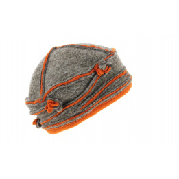 Toque Ilda Laine Marron & Orange- Traclet
