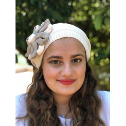 Béret Irma Coton Fleur Rose- BeBeret