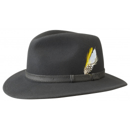 Chapeau Traveller Rutherford Noir Cache-Oreilles- Stetson
