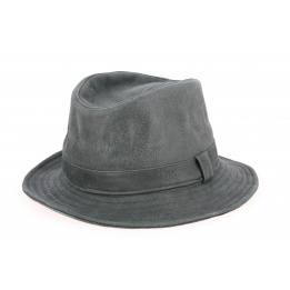 Chapeau Traveller Nappa Cuir Gris Anthracite- Traclet