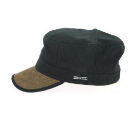 Black & Brown Gosper Military Cap - Stetson
