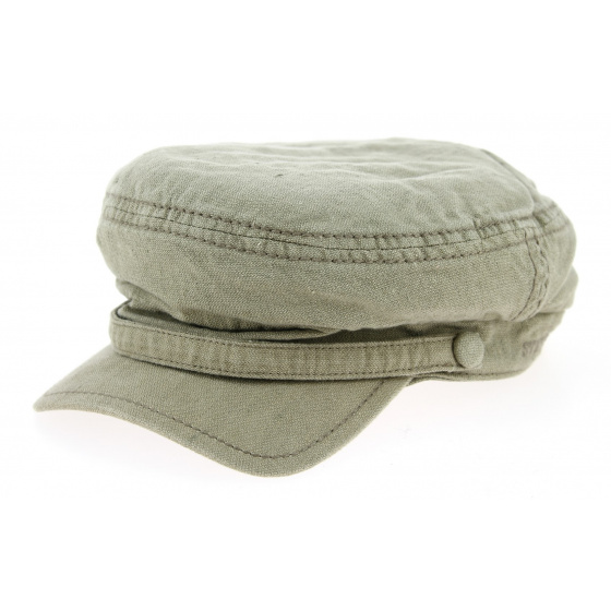 Marin Peabody Cotton & Linen Olive Cap- Stetson