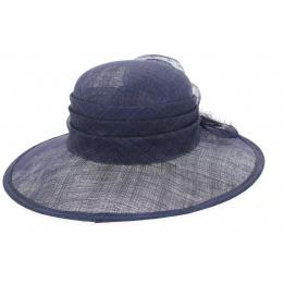 Chapeau de Cérémonie Pivoine Marine