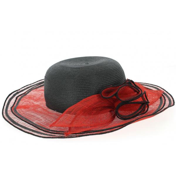 Capeline de cérémonie Rouge & Noir