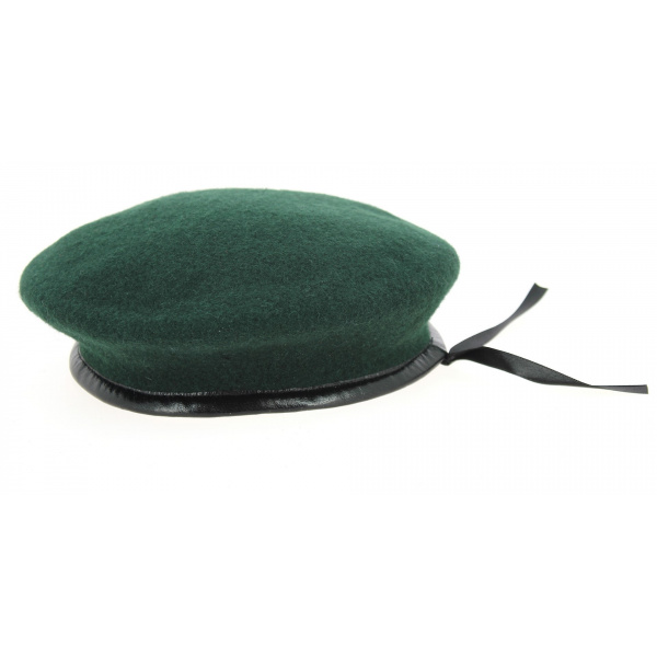Beret vert fonce commando marine avec flot special commando