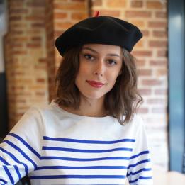Béret Mode Noir- Le Béret Français