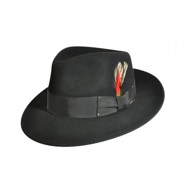 Fedora LiteFelt® Hat Black - Bailey