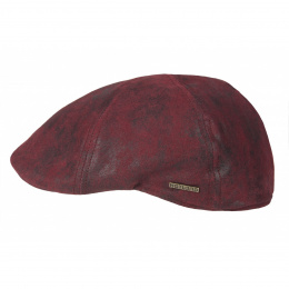 Sutton Duckbill Cap Red Leather - Hatland