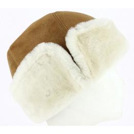 Bonnet Pompon Fourrure Laine Eden Gris - Eisbär