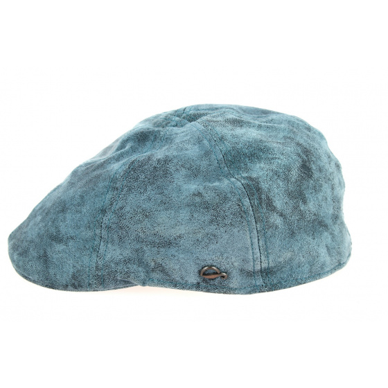 Brentford Duckbill Cap Blue Leather - Göttmann