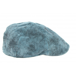Blue Leather Brentford Duckbill Cap - Göttmann