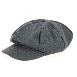 Casquette Gavroche Laine Anthracite - Traclet