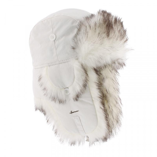 ushanka  FAKE FUR White