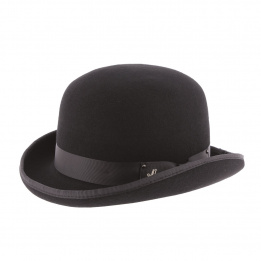 Chapeau Melon Don Church Feutre Laine Noir- Herman