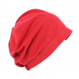 Turban chimiotherapie rouge
