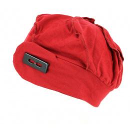 Turban chimiothérapie - rouge