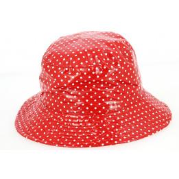 Chapeau de pluie Amenie rouge à pois