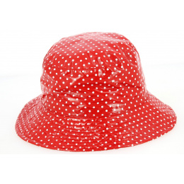 Chapeau de Pluie Amenie Rouge à Pois- Traclet