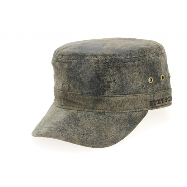 Casquette Army Marron - Minnesota Raymore Leather - Stetson