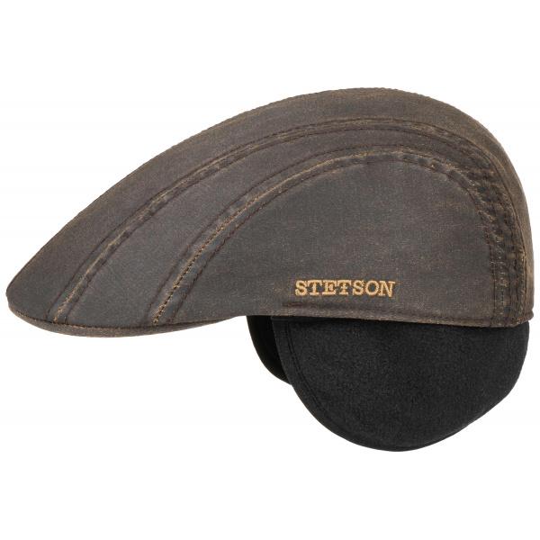 Casquette Modesto Cache-Oreilles Coton Marron- Stetson