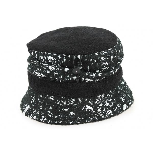 Chapeau Cloche Filcha Noir et Blanc- Mtm