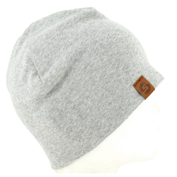Bonnet Basic Coton Gris- Super Yellow