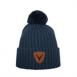 Caribou Wool Merino Hat Blue- Super Yellow