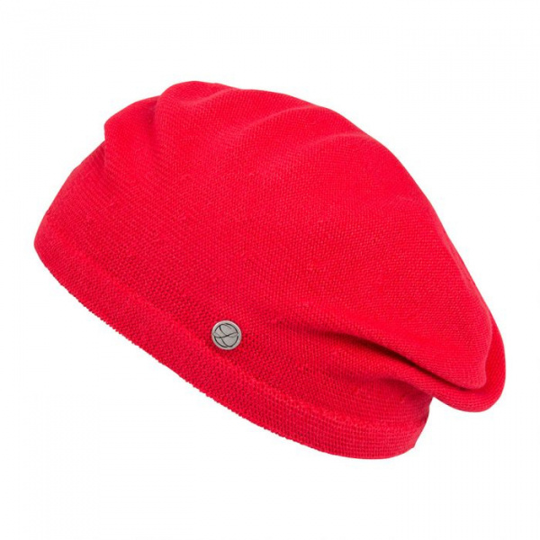 Belza Beret Cotton Red Scarlet - Laulhère