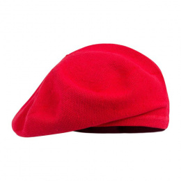 Belza Beret Cotton Red Scarlet - Laulhère