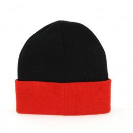 Bonnet Acrylique Pull-On Noir & Rouge- Kangol