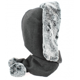 Capuche Norell Polaire Anthracite- Traclet