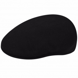 Flat cap 504 Wool winter Black - Kangol