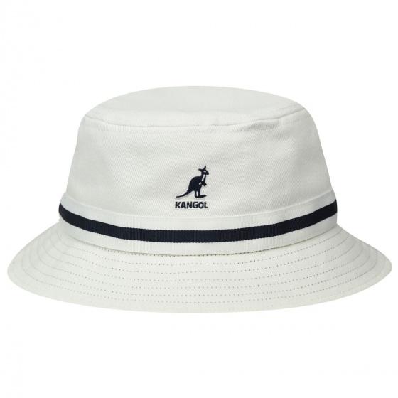 Bob Stripe Lahinch Cotton White - Kangol