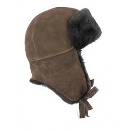 Chapka Vraie Fourrure Mouton Marron- Traclet