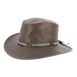 Chapeau Traveller Bison Cuir Marron - American Hat Makers