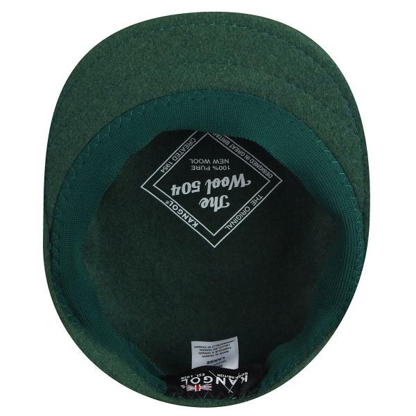 Casquette Plate 504 Laine Vert Foncé- Kangol