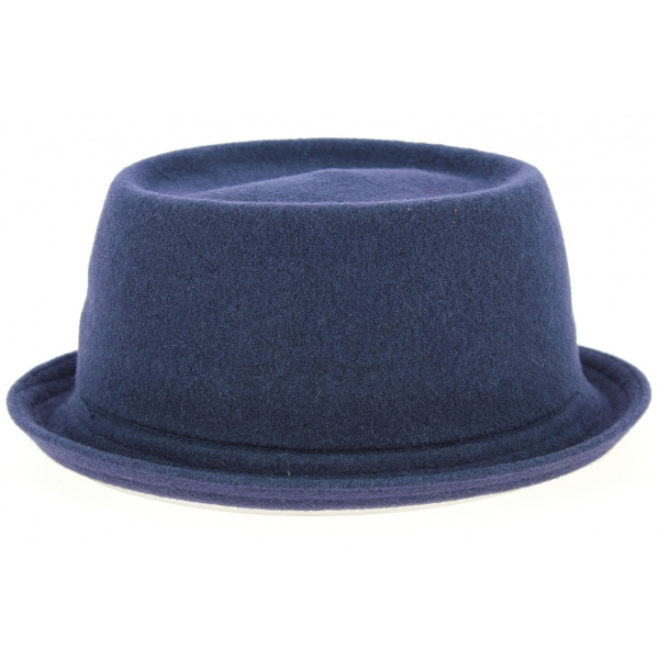 Chapeau PorkPie Wool Mowbray Bleu Marine- Kangol
